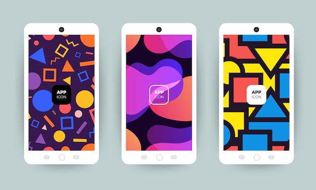 Set of backgrounds with trendy . applicable for cover, voucher, poster, flyer.