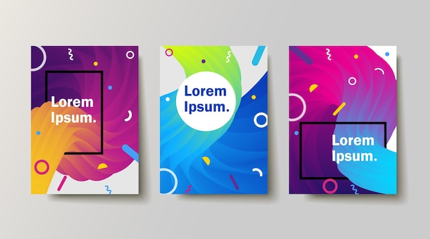 Set of backgrounds with trendy design applicable for covers placards posters flyers