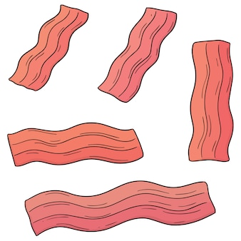 Set of bacon