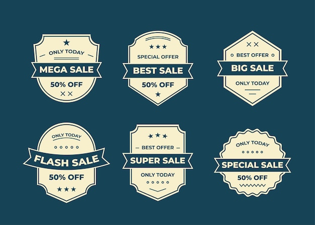 Set of badge or logo, label, design element collection,   illustration