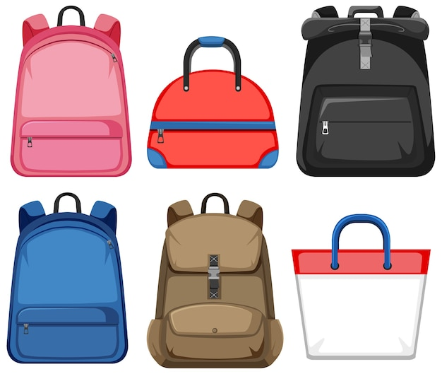 Set of bag and backpack