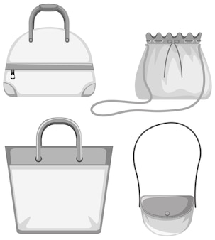 Set of bag mock up