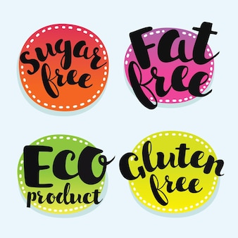 Set of bages for eco and healthy food