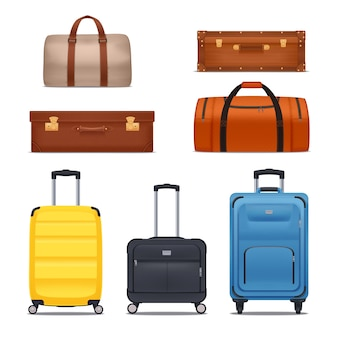 Set of bags and suitcases