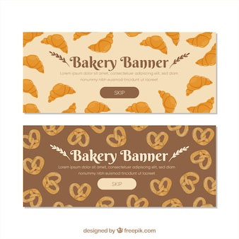 Set of bakery banners