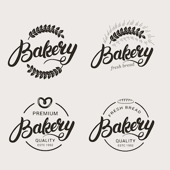 Set of bakery and bread logo.