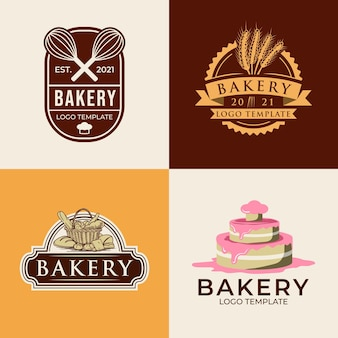 Set bakery logo templates