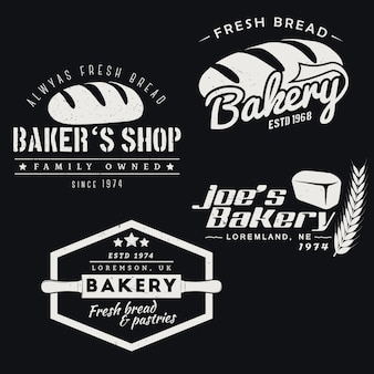 Set of bakery logos