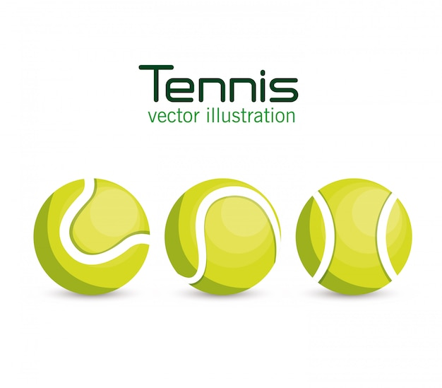Set ball tennis sport