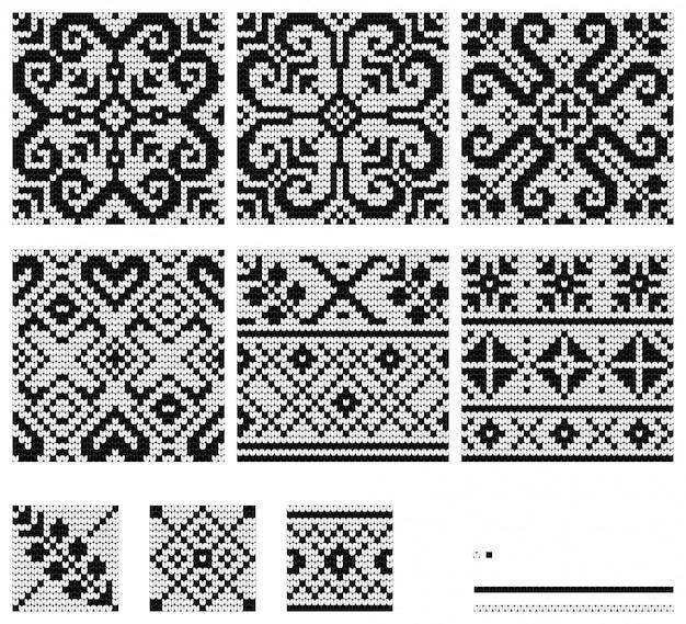 Set of baltic star knitting patterns