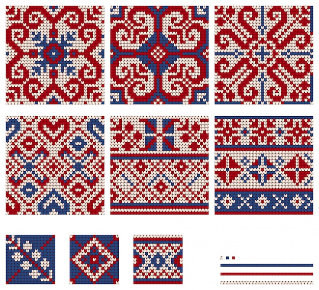 Set of baltic star knitting patterns