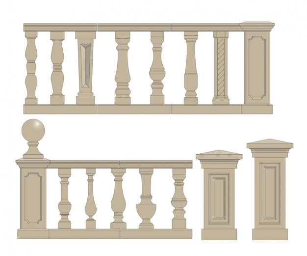 Set  of  balusters