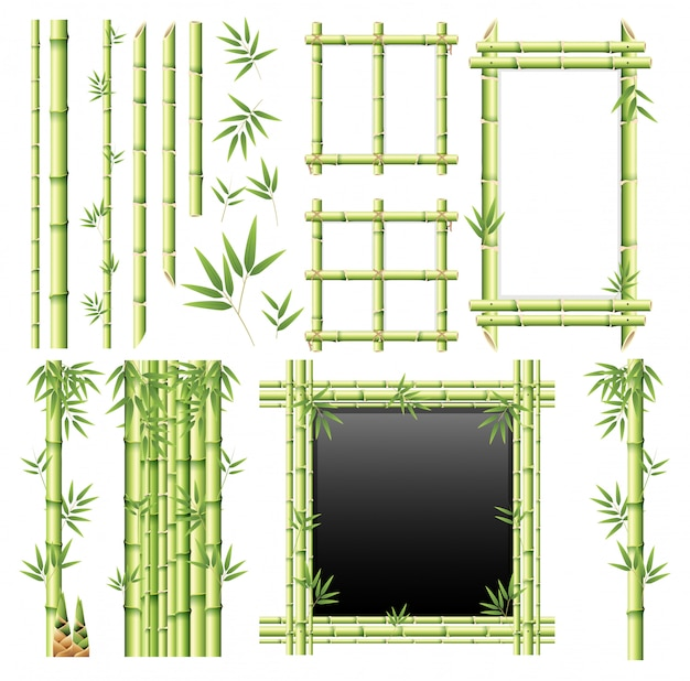 A set of bamboo element
