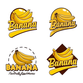 A set banana logo badge