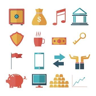 Set banking money finance investment growth