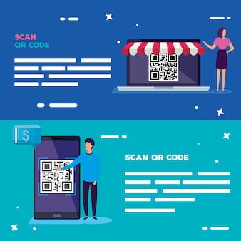 Set banner of scan code qr