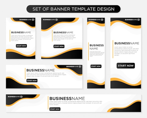 Set of banner template design