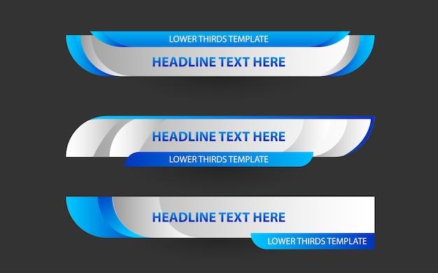 Установите баннеры и нижние трети для новостного канала сине-белым цветом