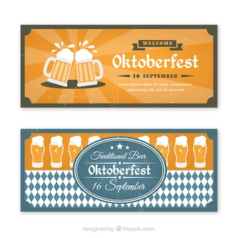 Set of banners for german beer party