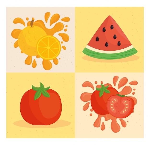果物や野菜のバナーを設定