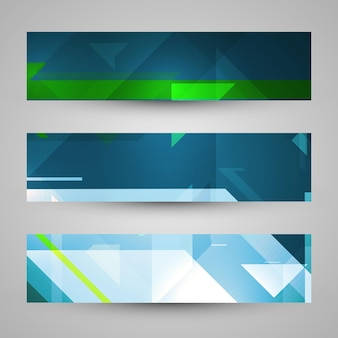 Set of banners, technology art illustration
