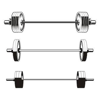 Set of barbells
