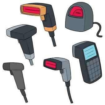 Set of barcode reader