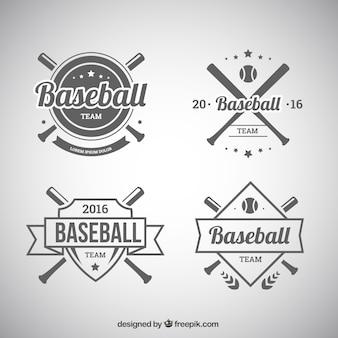 Set of baseball badges