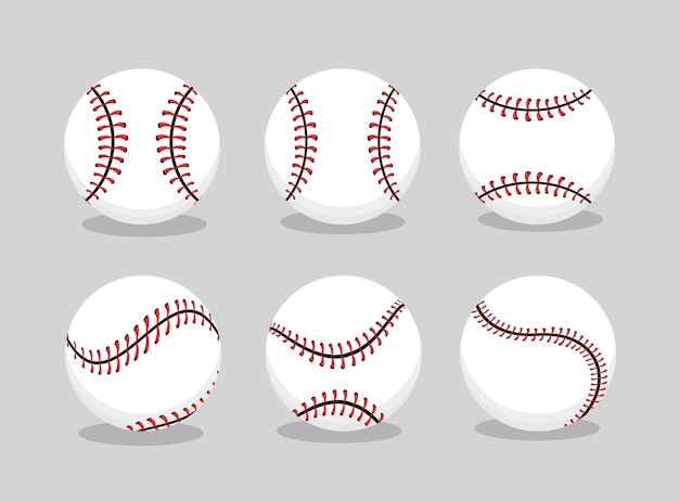 Set baseball ball sport to professional team