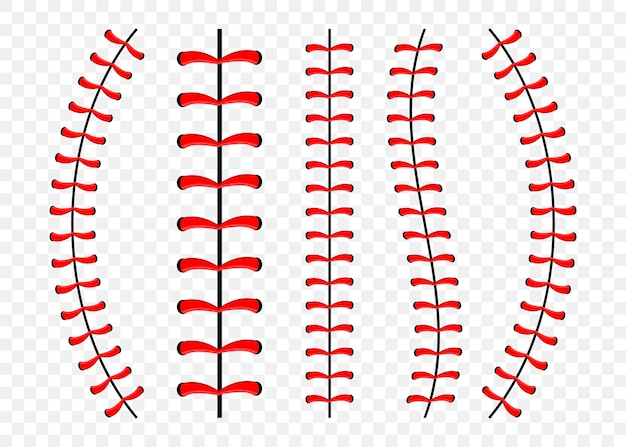 Set of baseball stitches