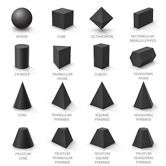 Set of basic 3d shapes