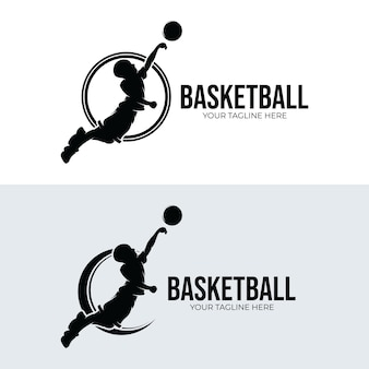 Set of basketball logo designs