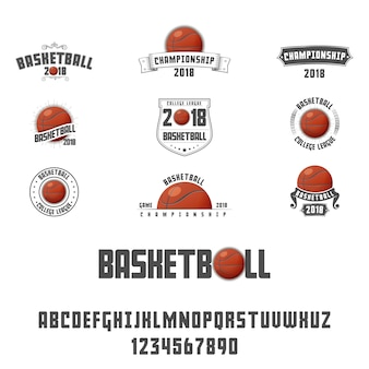 Set of basketball logo