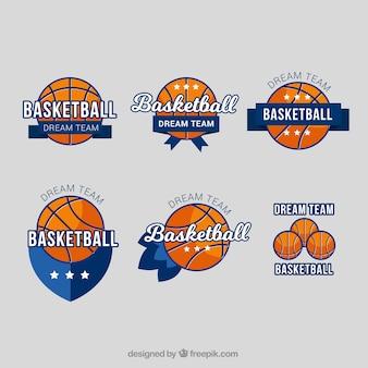 Set of basketball stickers