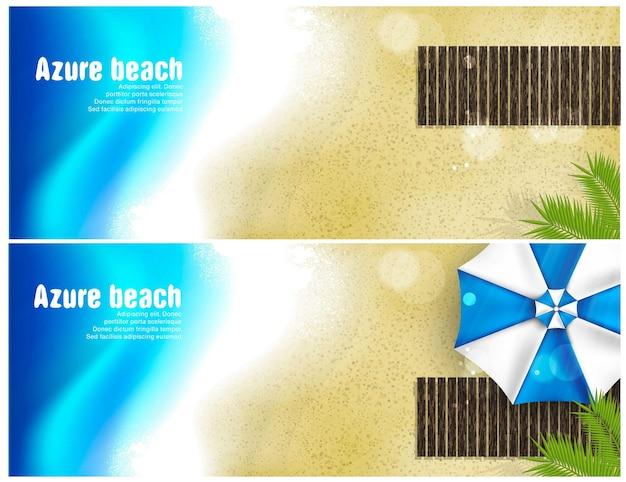 Set of beach banner.