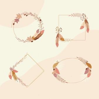 Set di bellissime cornici boho