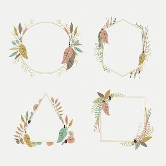Set of beautiful boho frame