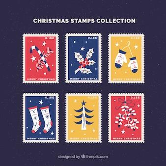 Set di bei francobolli di natale