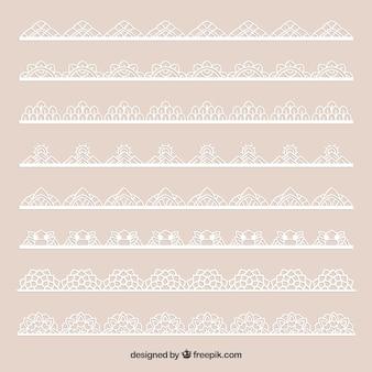 Set of beautiful lace borders