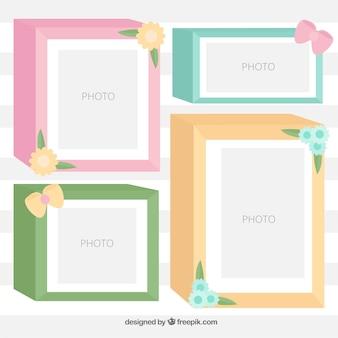 Set of beautiful photo frames