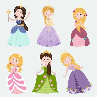 Set of beautiful princess
