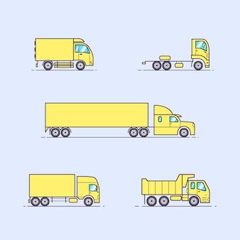 Set of beautiful trucks