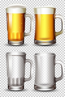 Set of beer glass