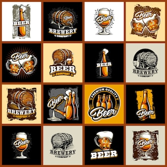 Set of beer logo