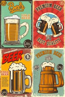 Set of beer pub posters.