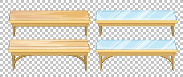 Set of bench