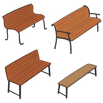 Set of bench