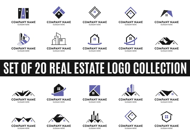 Set of best real estate logo collections