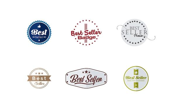 Set of best seller product badge