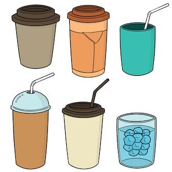 Set of beverage cup